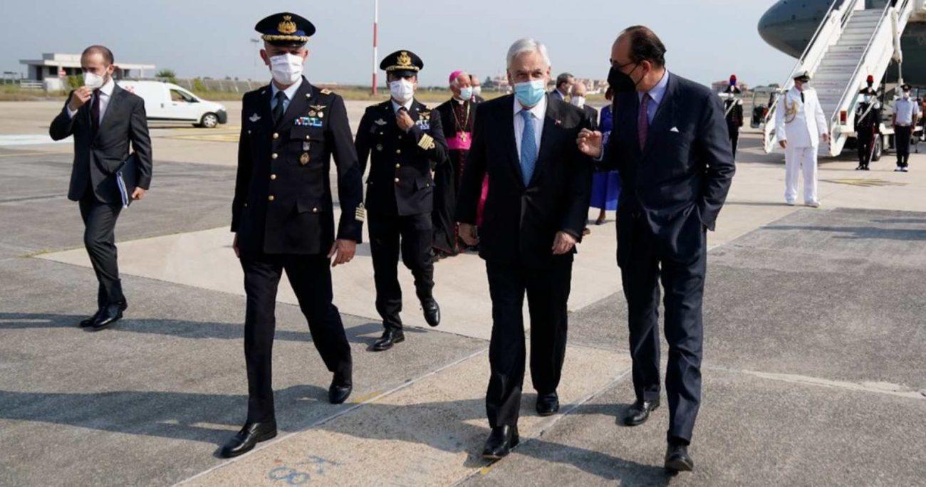 Piñera también tiene previsto reunirse con el mandatario, Sergio Mattarella. TWITTER/PRESIDENCIACHILE