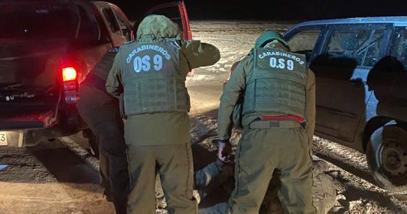 Los uniformados fueron detenidos durante el 7 de septiembre. CARABINEROS/ARCHIVO
