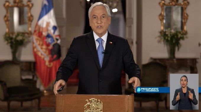 """Piñera presenta Presupuesto 2022 """"inclusivo y sustentable"""" por US$82.135 millones"""