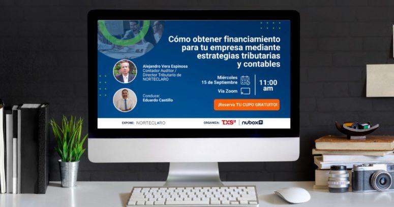 Webinar explicará cómo obtener financiamiento para Pymes con estrategias tributarias y contables