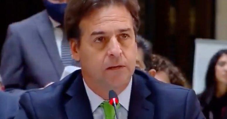 """VIDEO – Luis Lacalle citó canción """"Patria y Vida"""" frente a Miguel Díaz-Canel"""