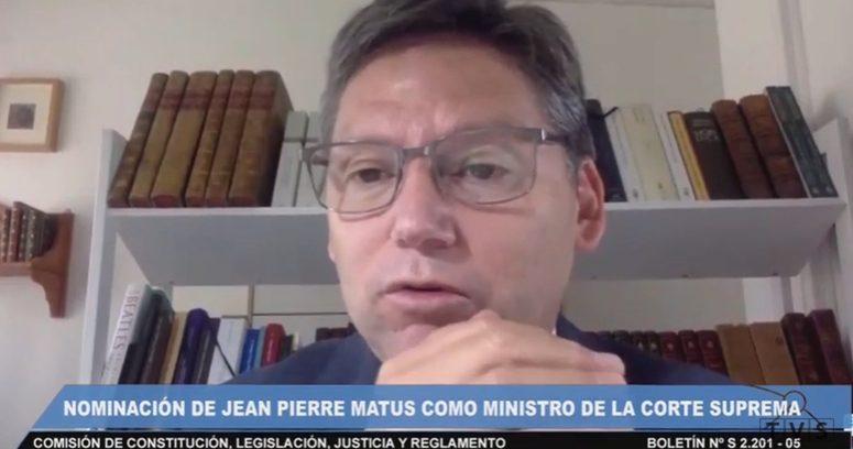 """""""Comisión de Constitución del Senado respaldó nominación de Jean Pierre Matus a la Corte Suprema"""""""