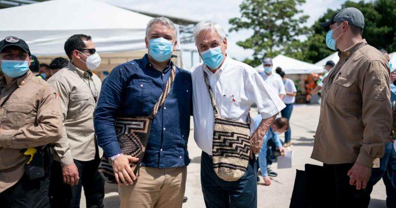 Piñera llegó a Colombia en el inicio de su gira por Sudamérica