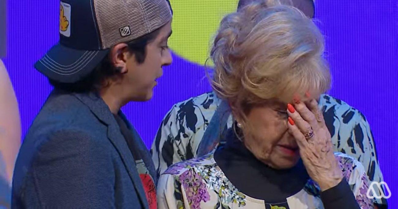 La comediante durante los últimos minutos de emisión del programa. CAPTURA
