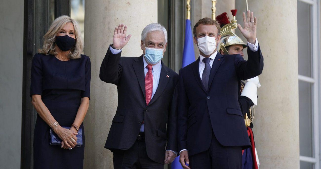 El presidente chileno junto con el mandatario francés. ALEX IBANEZ/PRESIDENCIA