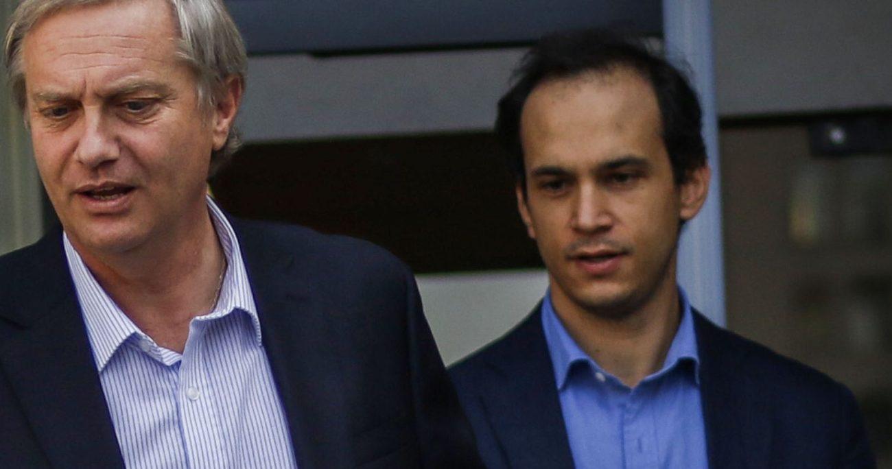 En candidato José Antonio Kast y el secretario general de Republicano, Antonio Barchiesi.