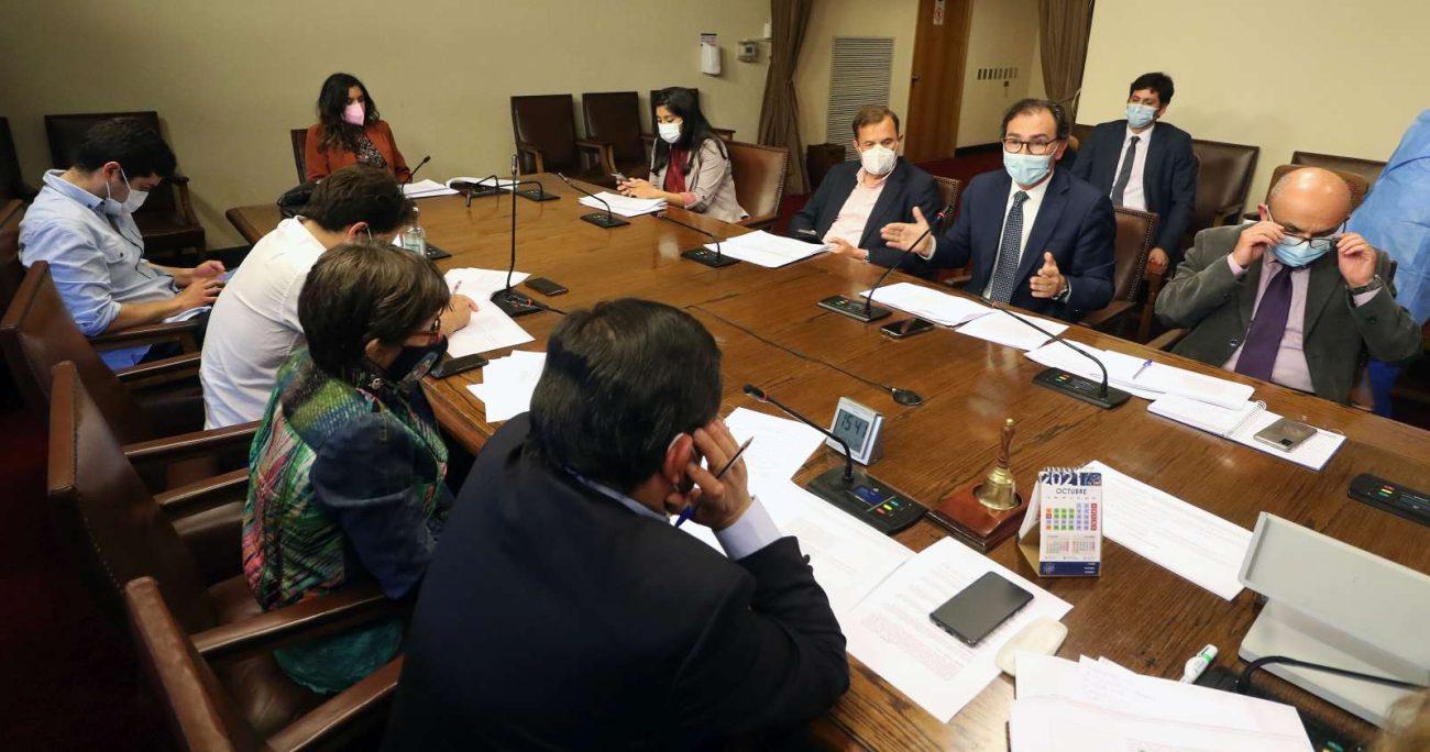 La comisión durante la votación del veto presidencial. AGENCIA UNO