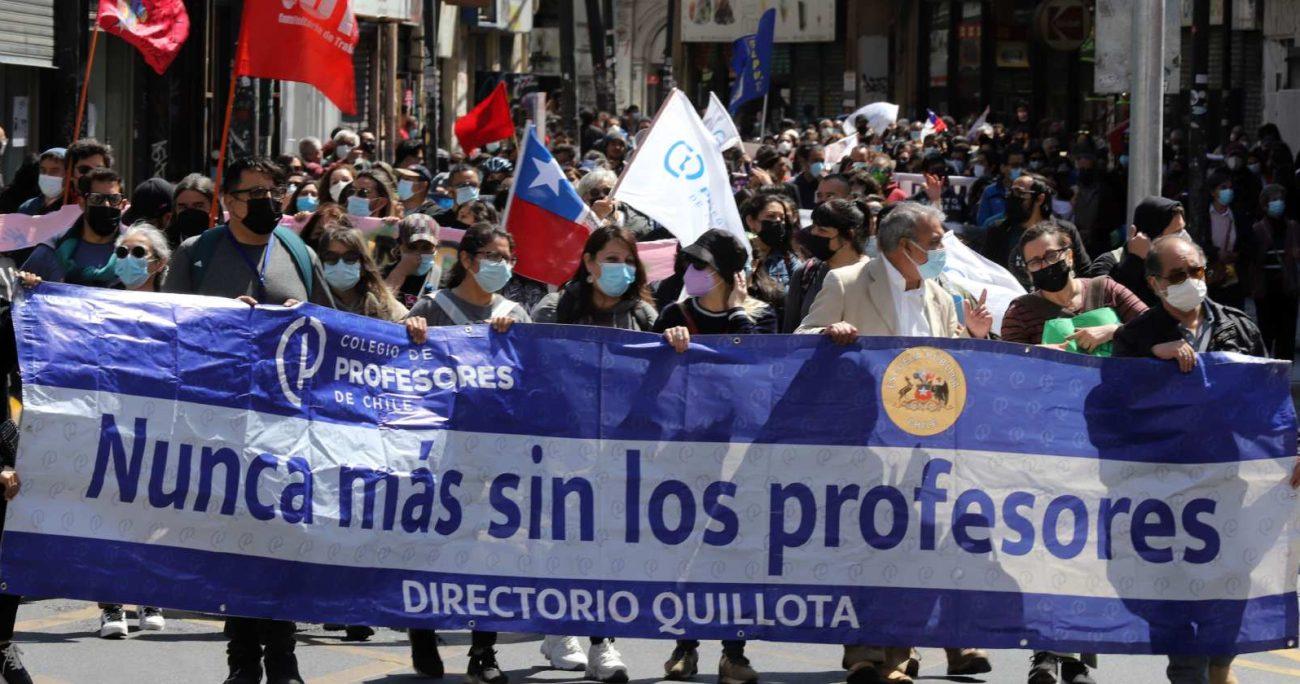 La masiva marcha, que congregó a 50 mil personas, se realizó en completa normalidad sin incidentes. AGENCIA UNO