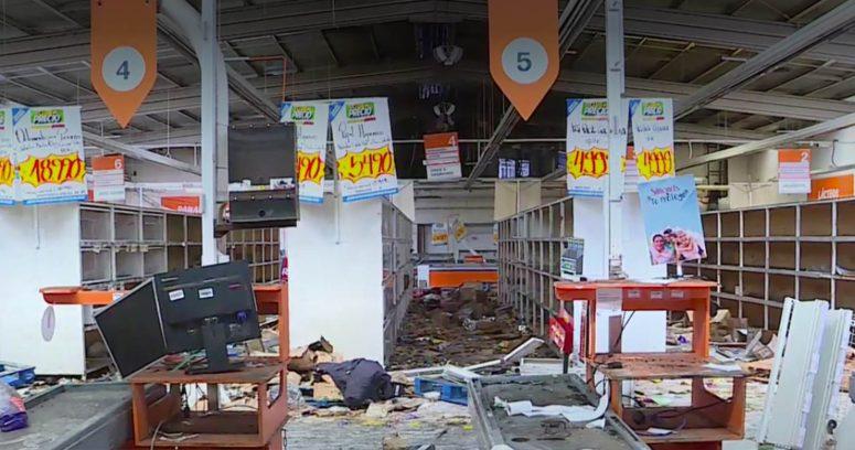 """Supermercado saqueado en Bajos de Mena despide a todo su personal: """"No se volverá a instalar"""""""
