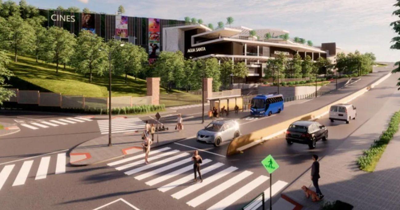 El proyecto a cargo de la empresa Inmobiliaria Triangular SpA involucra la construcción de un centro comercial de ocho niveles, que albergará un supermercado, 117 locales comerciales.