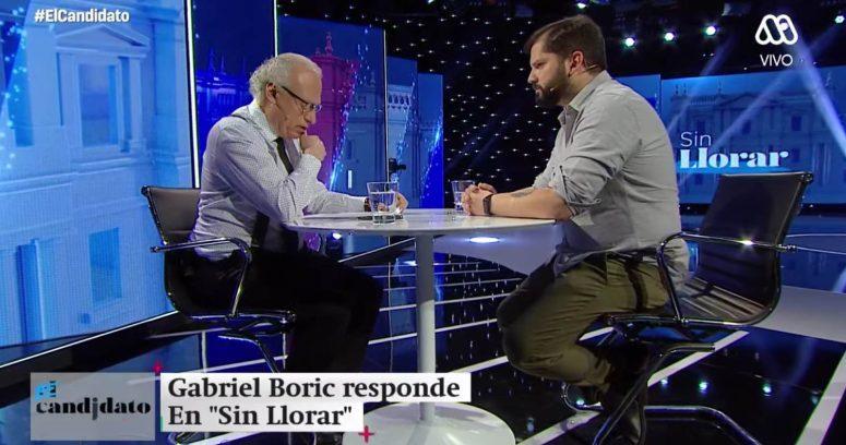 """""""Boric se enoja por pregunta de economía durante entrevista con Mosciatti"""""""