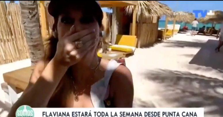 VIDEO – El chascarro que sufrió Flaviana Seeling por micrófono abierto en programa de TV+