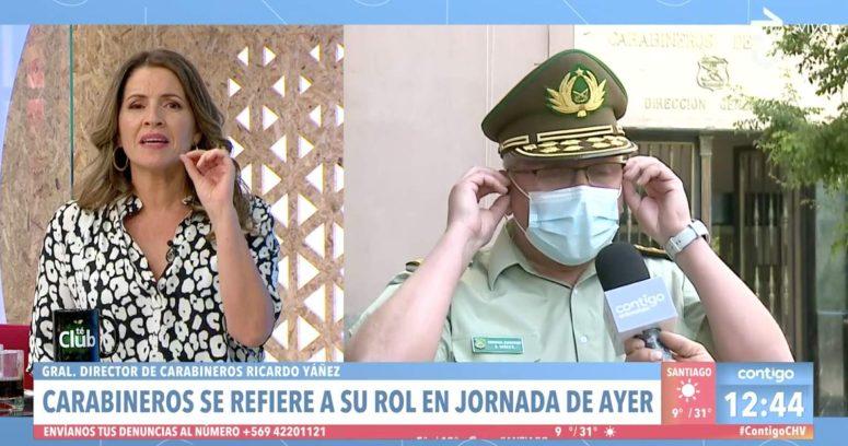 """VIDEO – """"No me deje hablando sola…"""": general director de Carabineros abandonó despacho en Contigo en la Mañana"""