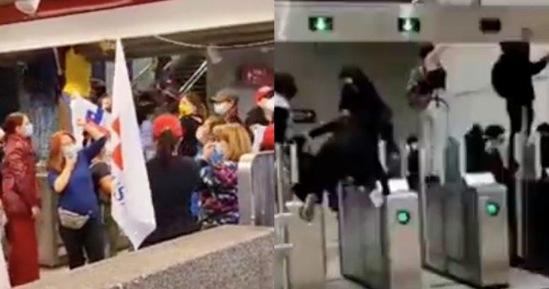 A dos años del 18 de octubre se repiten evasiones masivas en Metro de Santiago